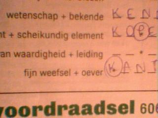Valerie De Brabanter - taalpuzzel uit Humo (25 mei 2010)